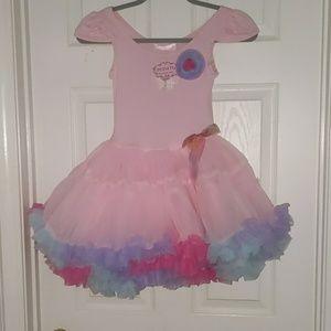 Popatu pink fancy layered dress Sz M 5/6 NWT